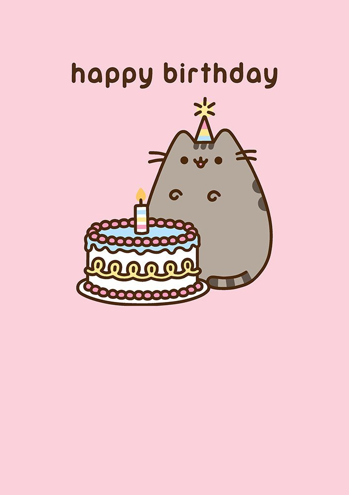 Pusheen The Cat Happy Birthday Greeting Card Amazoncouk Office Products