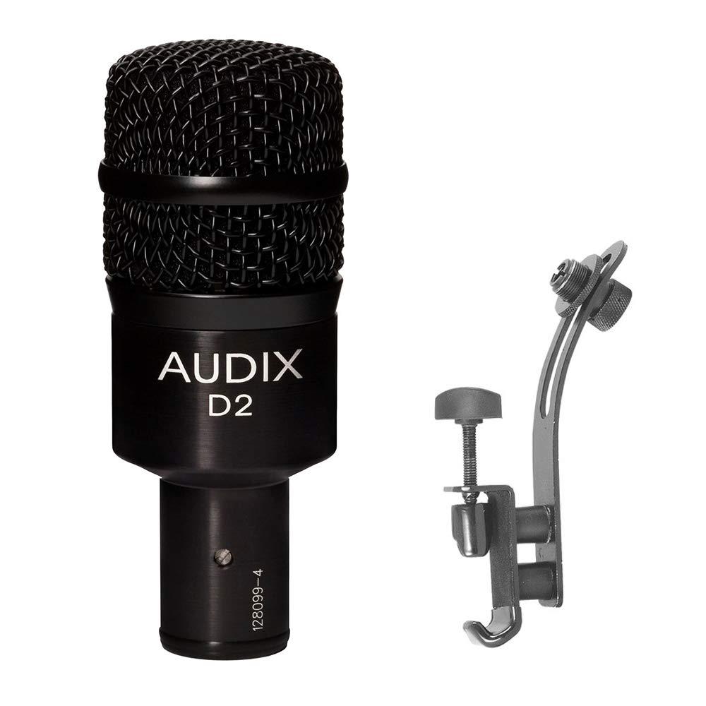 Audix D2 Dynamic Instrument Microphone with DM50 Drum Rim Microphone Clip Bundle by AUDIX