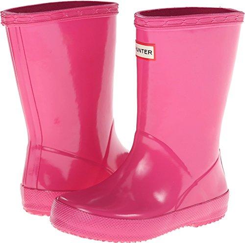 Hunter Girls' KIDS FIRST GLOSS (Toddler/Youth) - FUSHIA - 7 Toddler (Kids Original Gloss Rain Boots)