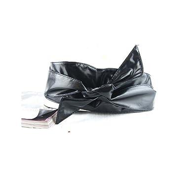 LQZ(TM) Femme Ceinture Cuir Noeud Papillon Souple Large pour Robe Serre  Taille Haut d5e68c3e669