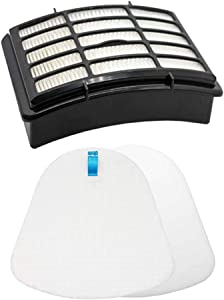 Eztronics Corp 1 Hepa Filter 1 Foam for Shark Vacuum Cleaner Navigator Lift-Away NV350, NV351, NV352, NV355, NV356E, NV357, NV360, NV370, NV391, UV440, UV490, UV540 Part XFF350 XHF350