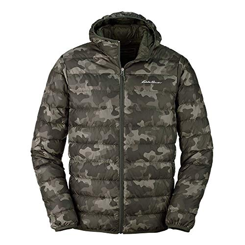 Eddie Bauer Men's CirrusLite Down Hooded Jacket, Camo Regular M
