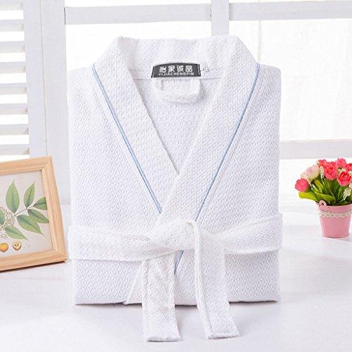 A Da Cotone Assorbimento Di Estate Donne Collo Notte Uomini colore Sottile Lunghe 100 D'acqua Albergo Sezione 4 E Accappatoi M Dimensioni Maniche Kimono 2 Camicia fXUZE