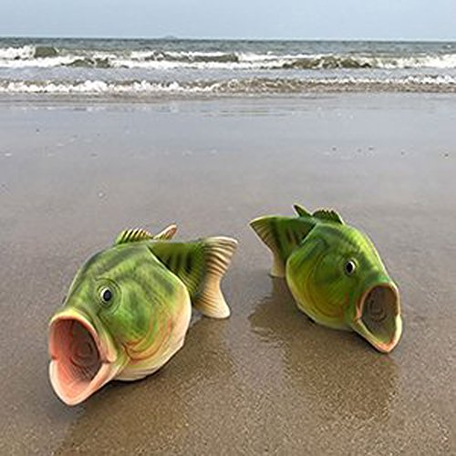 and Cool Sandals Fish Creative Fashion Slip Beach Outdoor for House Slippers Men Women Funny Non Couple Orange xT1qUnn