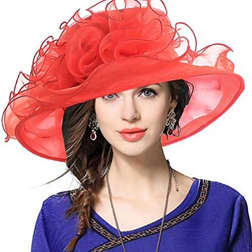 VECRY Lady Oaks Derby Church Hat Wedding Dress Wide Brim Hat