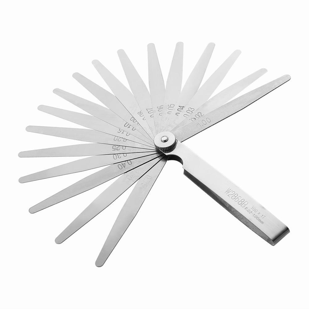 Demiawaking Feeler Gauge Set 17 Pieces Stainless Steel Feeler Gauge Metric Gap Thickness Measuring Tool 0.02-1.0mm DemiawakingUK