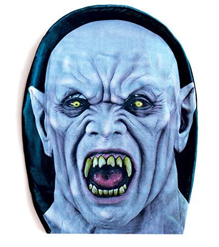 Halloween Vampire Faces (Vampire Mask Full Face - Scary Halloween Masks for Men Grey/White Nosferatu Monster Costume)