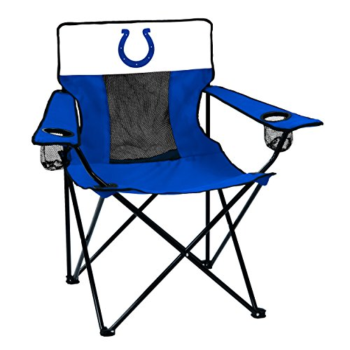 (Logo Brands NFL Indianapolis Colts  Folding Elite Chair with Mesh Back and Carry Bag ,  Royal,  One Size)