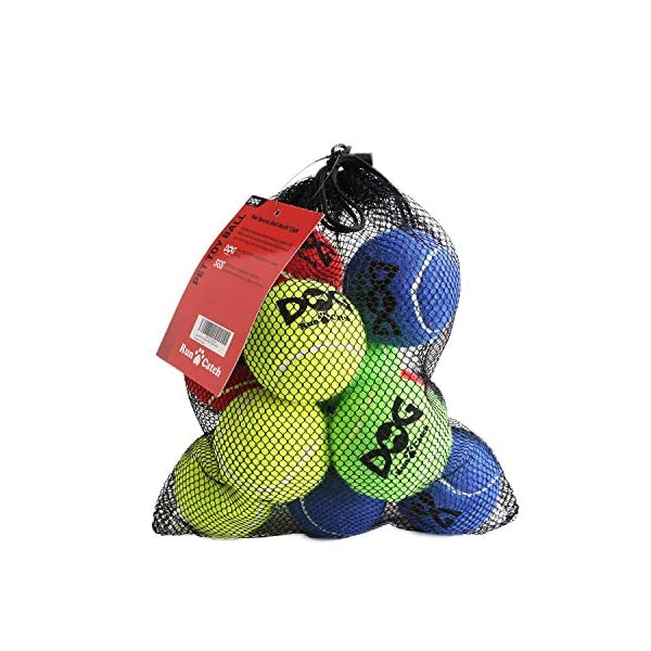 insum Tennis Ball for Dog Pack of 12 Colorful Easy Catching Pet Dog Ball 1