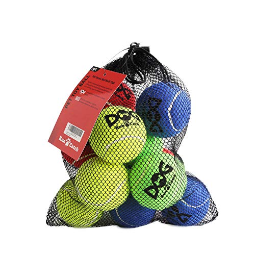 insum Tennis Ball for Dog Pack of 12 Colorful Easy Catching Pet Dog Ball ()