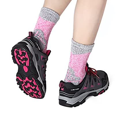 RedMaple 3 Pairs Camping Hiking Walking Socks for Women - Cushioned Comfortable Fitness Athletic Crew Socks for Outdoor… 5