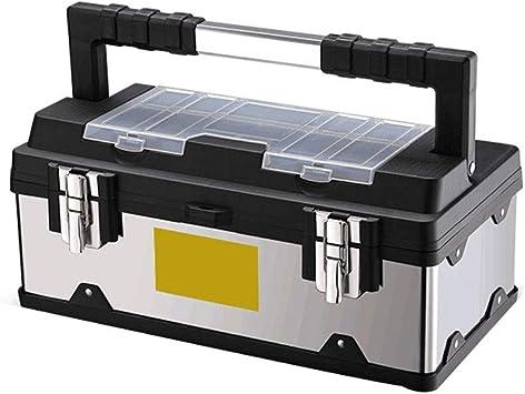 ChenCheng Caja de herramientas de acero inoxidable Multifunción Hogar portátil Electricista grande Caja de metal Herramienta de reparación de hardware Caja de almacenamiento Organizadores de herramien: Amazon.es: Bricolaje y herramientas