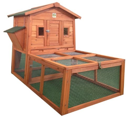 RH-57R1 W/Run Rabbit Hutch with Storage for Hay / Straw