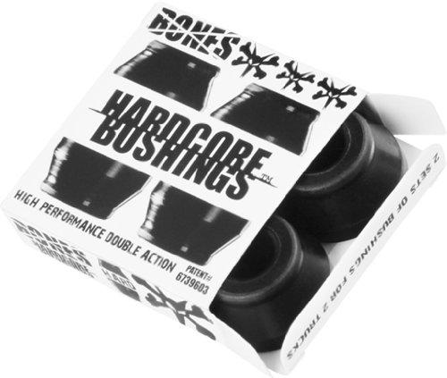 Bones Hardcore 4pc Hard Black Black Bushings Skateboard Bushings by Bones Wheels & Bearings