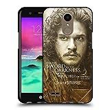 Official HBO Game Of Thrones Jon Snow Character Portraits Black Soft Gel Case for LG K10 (2017) / K20 Plus