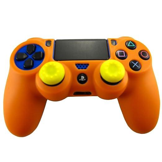321 opinioni per Pandaren® Pelle cover skin per il PS4 controller(arancione) x 1 + pollice presa