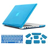 Mr.northjoe 3 in 1 Ultra Slim Light Weight Rubberized Hard Case Cover + Keyboard Cover + Anti-dust Silicone Plug for Macbook Pro 15 inch 15.4