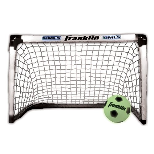 Franklin Sports Soccer Goal and Ball - Glow In The Dark/Light Up - 39.5 x 25.5 Goal -