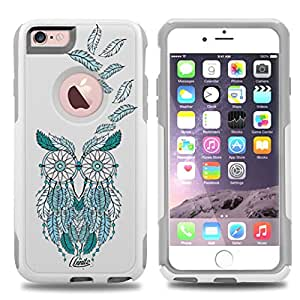 iPhone 6 Case White Dream catcher Owl [Dual Layered] Protective Commuter Case for iPhone 6S White Case by Unnito