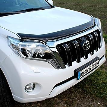 Toyota Landcruiser J150 Deflector piedra Impacto Protección bugshield capó de cerebros Protector prado: Amazon.es: Coche y moto