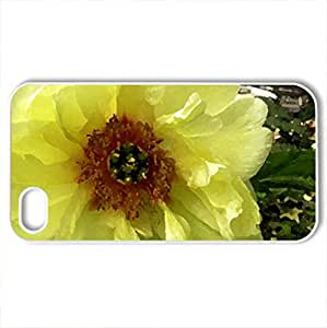 Beautiful Peony - Case Cover for iPhone 4 and 4s (Flowers Series, Watercolor style, White)