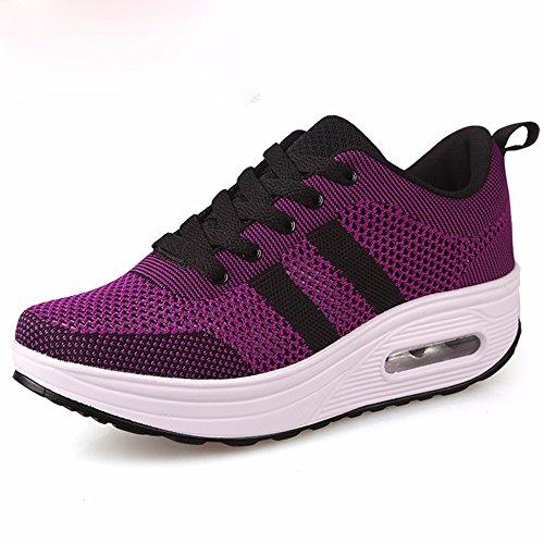 4 Des Chaussures Voler Femelle Et Chaussures KHSKX Semelles Thirty Des L'Automne Avec Sport Chaussures L'Hiver Chaussures Purple Et seven Épaisses 5Cm Loisir Coton qnxpSAtfw