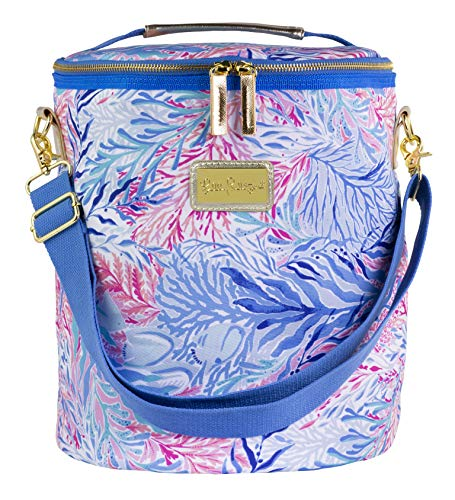 Lilly Pulitzer Insulated Beach Cooler with Adjustable Strap, Kaleidoscope Coral from Lilly Pulitzer