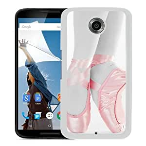 Personalized Hard Shell Ballet White Google Nexus 6 Phone Case