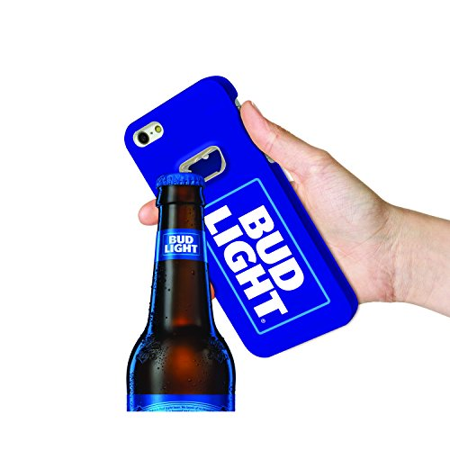 Bud Light Bottle Opener Case for Apple iPhone 6/6S Beer Opener Case. BudLight Slim Portable iPhone Case with Bottle Opener for Beer. Bud Premium Protective Case 5.5 inch Hybrid– Blue Style