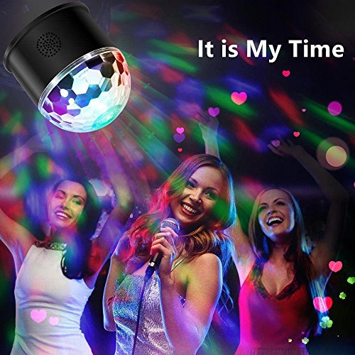 Dj Disco Ball Party Lights Bluetooth Speaker TONGK LED Magic Ball Colorful Mirror Ball Disco Lights Sound Activated Strobe Light for Home Party Gift Birthday halloween Dance Bar Xmas Wedding Show Club by TONGK (Image #6)