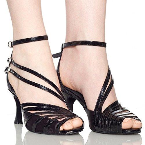 Shoes Blue Tango Heels Ballrom Salsa Women's Sandals Latin Modern Dance Doris vwpf0qn