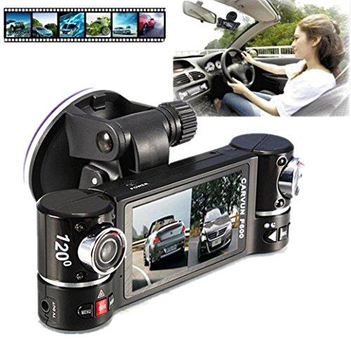 CreazyDog Dual Lens Car Camera Vehicle DVR Dash Cam Two Lens Video Recorder F600 ,2.7'' 16:9 HD display, dual-lens can rotate by 180°