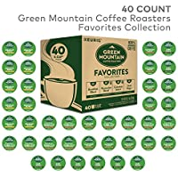 40 Count Green Mountain Coffee Roaster Coffee Roasters Favorites Collection Single Serve Coffee K-Cup Pod