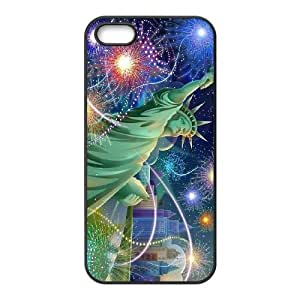 K-G-X Phone case For Apple Iphone 5 5S Cases Case-Pattern-7 American Statue Of Liberty Protective Back Case