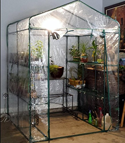 Green House HC-4202 Walk-in Greenhouse-Indoor Outdoor with 12 Sturdy Shelves-Grow Plants