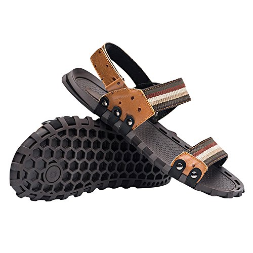 Tortor Mens Elastic Sandals Fashion Tortor 1Bacha 1Bacha Strap Brown Double TdOqqaw