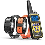 Oxygentle 330 Yards Range Remote Dual Dog Training Collar, Rechargeable and IPX7 Rainproof