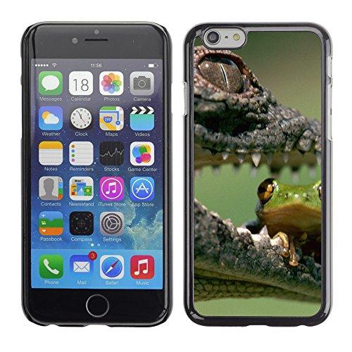 "Premio Sottile Slim Cassa Custodia Case Cover Shell // V00003176 crocodile manger grenouille // Apple iPhone 6 6S 6G 4.7"""