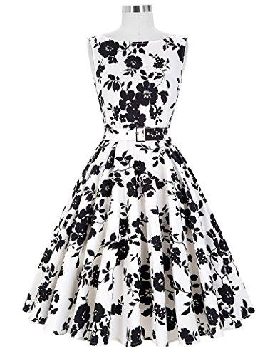 Belle 50 Mujeres Vestidos Vintage Cócteles Floral nbsp;Fiesta bp02 De Poque® de 24 Años Swing FrT6Fw