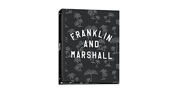 Carpeta Archivador Anillas Franklin & Marshall Boys 52017, Folio 4 Anillas (Negro): Amazon.es: Oficina y papelería
