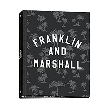 Carpeta Archivador Anillas Franklin & Marshall Boys 52017, Folio 4 Anillas (Negro)