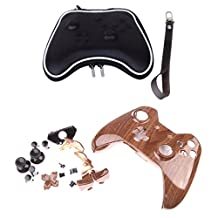 MonkeyJack Hydro Dipped Woodgrain Controller Shell Mod Kit w/ Carry Case for Xbox One