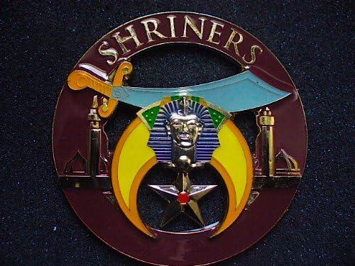 Delux Classic Shriners and Shrine Heavy Alloy Auto Car Emblem For Freemasons