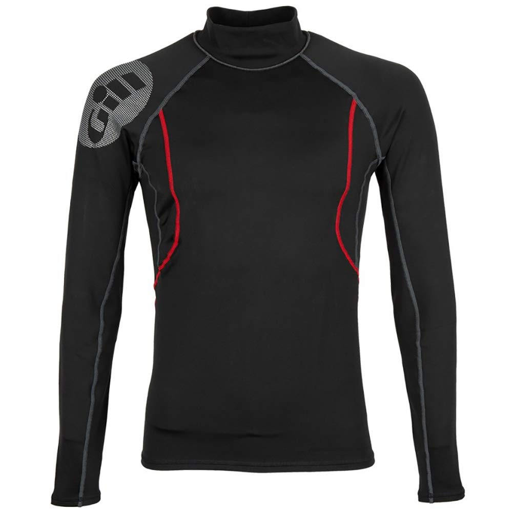 Gill Men's Hydrophobe Long Sleeve Top, Black, X-Large by GILL