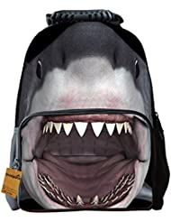 OrrinSports Fashion Children Backpacks 3D Animal Print for Kids School Daypack 16 (Shark)