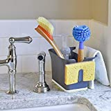 VT BigHome Self Draining Sink Caddy Organizer Grey Brush Sponge Holder Tidy