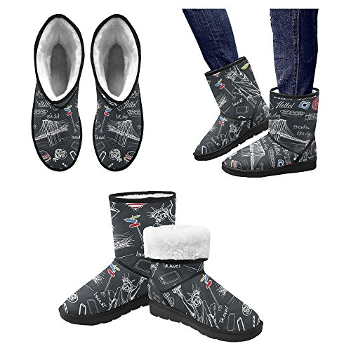 Comfort Boots Multi 11 Snow Designed Unique Boots Winter Womens InterestPrint X0xSBqw171