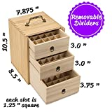 Essential-Oil-Box-Wooden-Storage-Case-With-Handle-Holds-75-Bottles-Roller-Balls-3-Tier-Space-Saver-All-Natural-Wax-Finish-Large-Organizer-Best-For-Keeping-Your-Oils-Safe-Free-EO-Labels