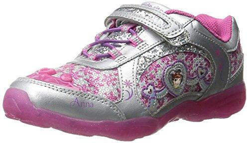 Stride Rite Disney Frozen Alternative Closure Light-Up Sneaker (Toddler/Little Kid), Berry, 12.5 M US Little Kid