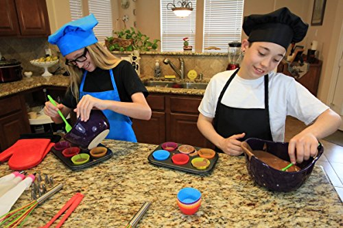 Kids Apron and Chef Hat Set. Adjustable Hat. Fits Childs Size Medium 6-12. (Lt. Pink) - Free eBook by Chefocity (Image #5)